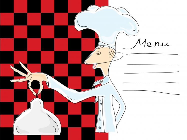 cartoon image of chefs and waiters 03 vector free vector 4vector