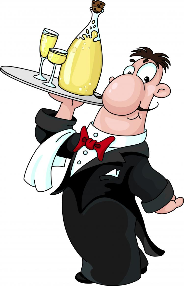 free vector Cartoon image of chefs and waiters 04 vector