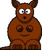 free vector Cartoon Kangaroo clip art