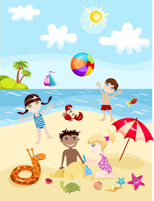 summer kids cartoon - Summer Pictures For Kids