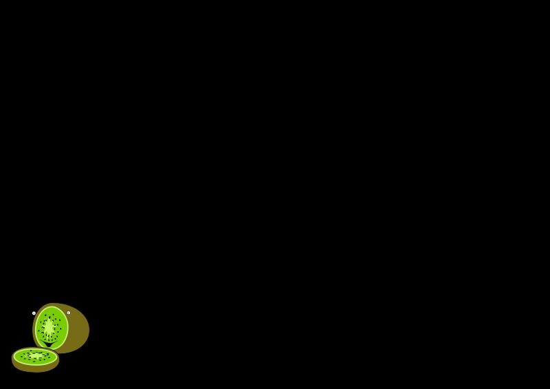 free vector Cartoon kiwi