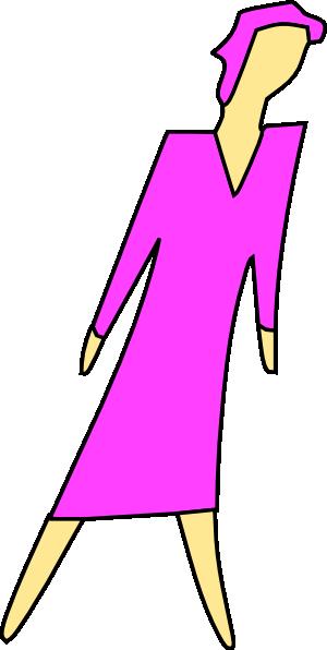 free vector Cartoon Lady Walking clip art