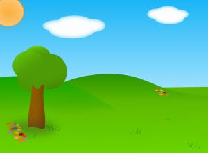 free vector Cartoon Landscape clip art