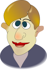 free vector Cartoon Man Face clip art