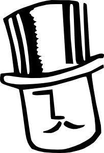 free vector Cartoon Man Wearing Hat clip art