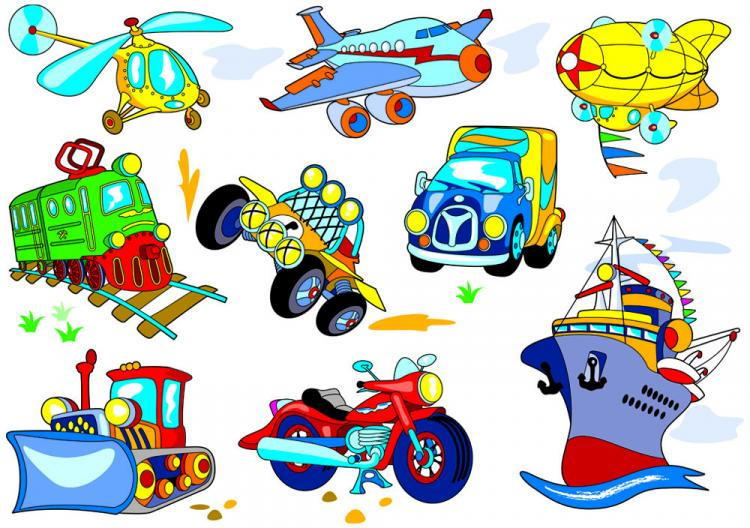 free vector Cartoon means of transport 03 vector
