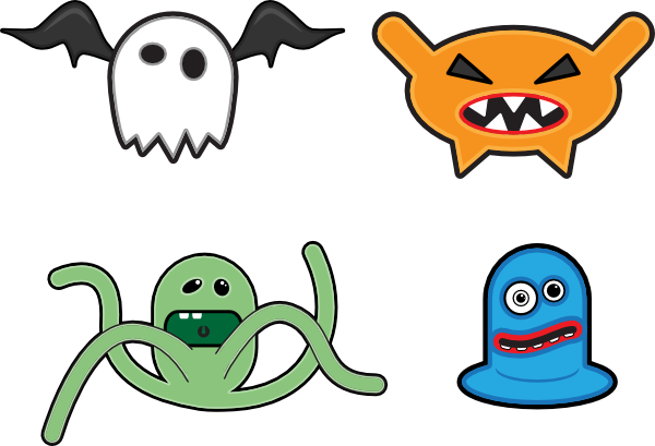 free vector Cartoon Monsters clip art