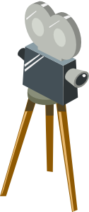 free vector Cartoon Movie Camera clip art