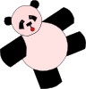 free vector Cartoon Panda Bear clip art
