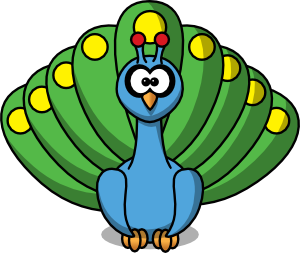 cartoon peacock clip art free vector 4vector rh 4vector com peacock clipart images peacock clipart images black and white