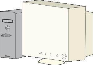 free vector Cartoon Personal Computer clip art