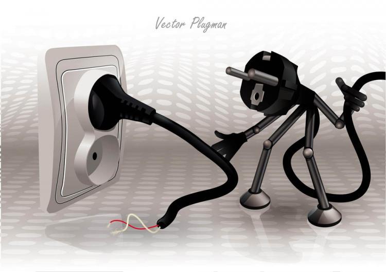 free vector Cartoon plug 01 vector