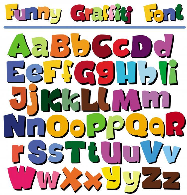 free vector Cartoon pop letters vector