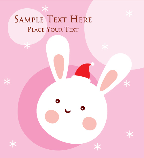 free vector Cartoon rabbit with icons vector
