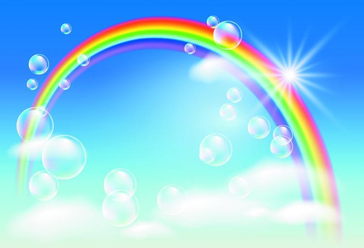 cartoon rainbow 04 vector free vector 4vector