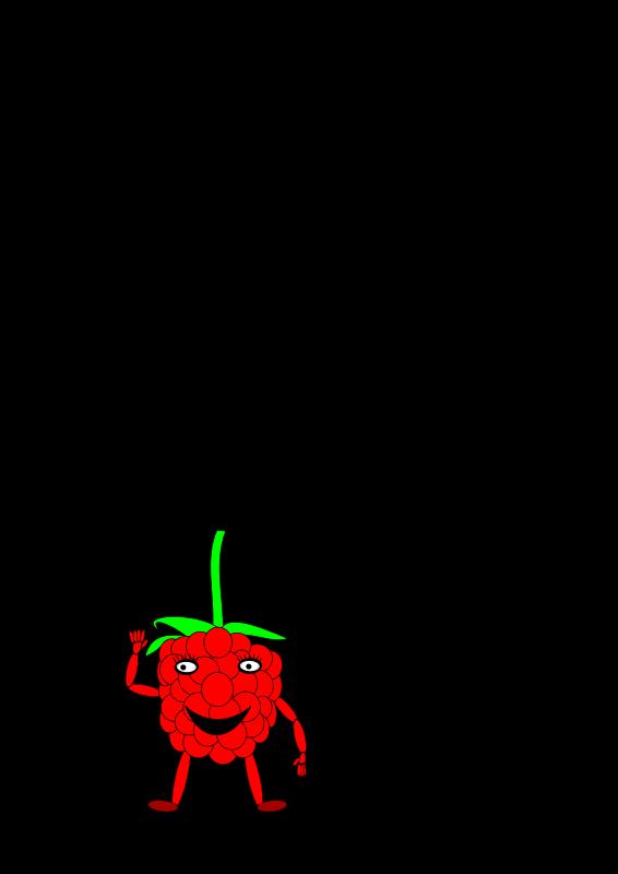 free vector Cartoon raspberry