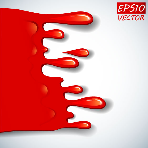 free vector Cartoon red blood 01 vector