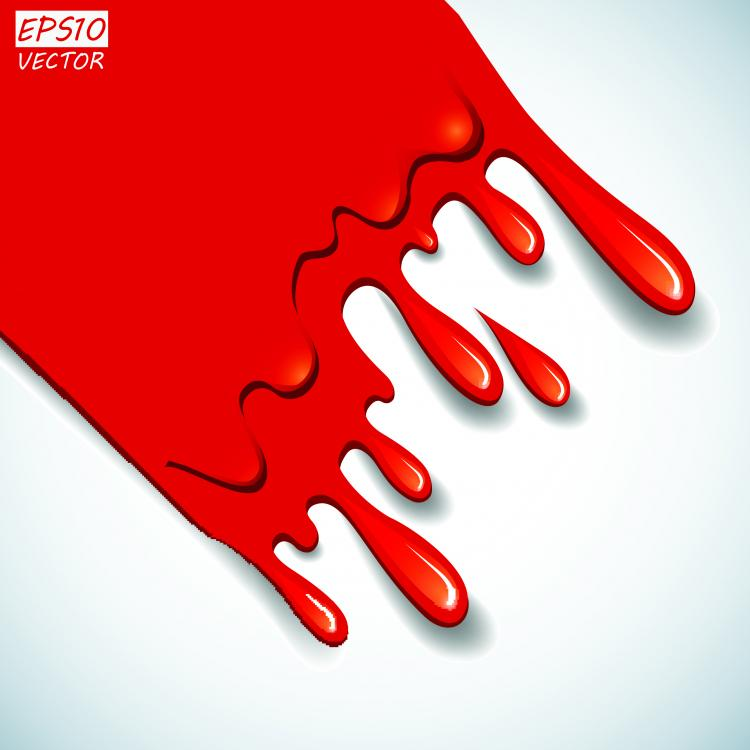 free vector Cartoon red blood 03 vector