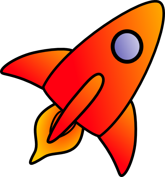 free vector Cartoon Rocket clip art