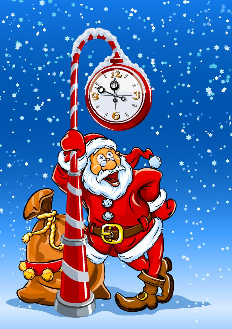 free vector Cartoon santa claus 01 vector
