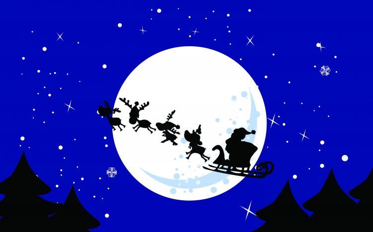 free-vector-cartoon-santa-claus-and-elk-vector_094533_Santa%20Reindeer ...