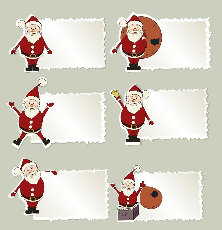 free vector Cartoon santa claus tab 01 vector