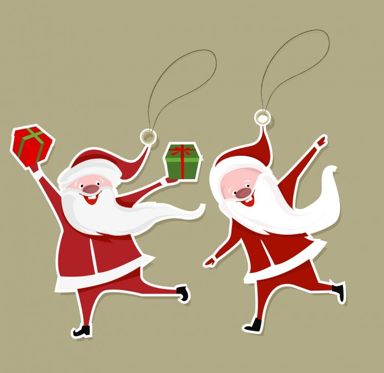 free vector Cartoon santa claus tab 02 vector