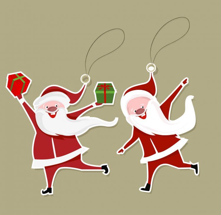 free vector Cartoon santa claus tab 02 vector