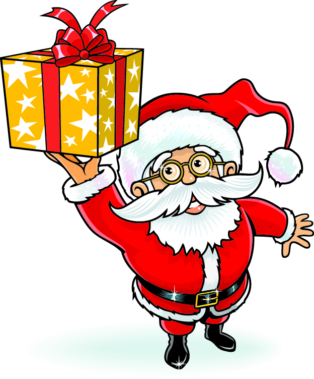 free vector Cartoon santa claus vector