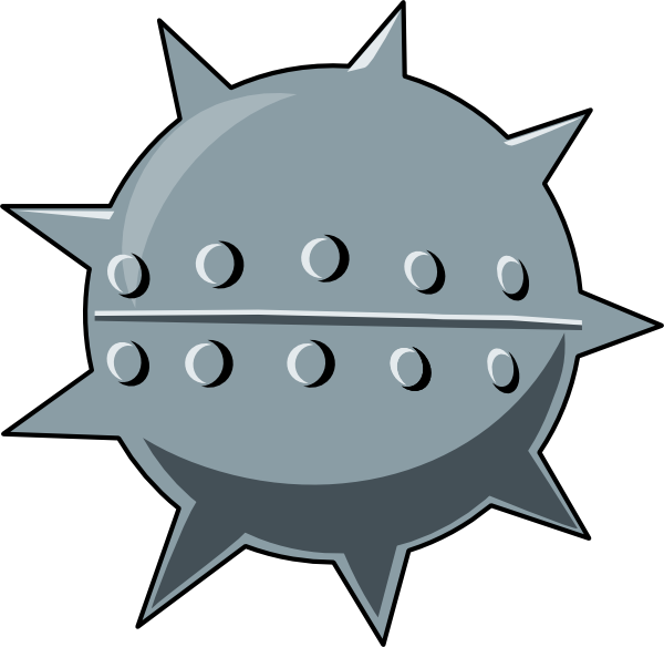 free vector Cartoon Sea Mine clip art