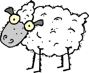 free vector Cartoon Sheep clip art