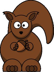 free vector Cartoon Squirrel clip art