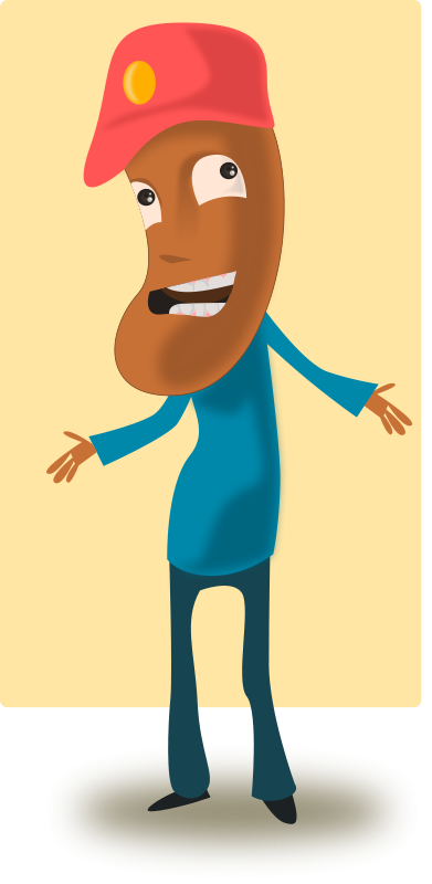 free vector Cartoon Toffee Guy