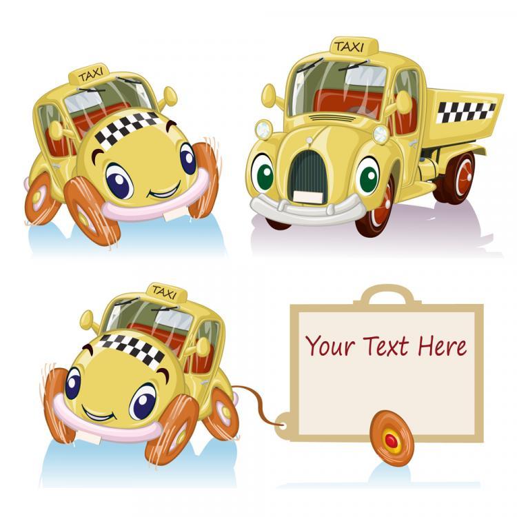 free vector Cartoon toy car 02 vector