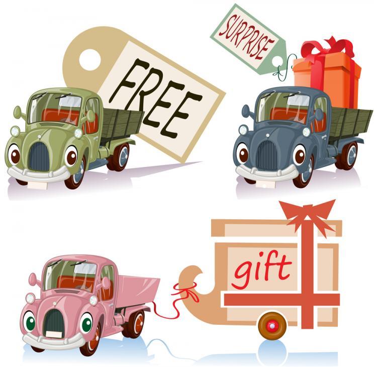 free vector Cartoon toy car 03 vector