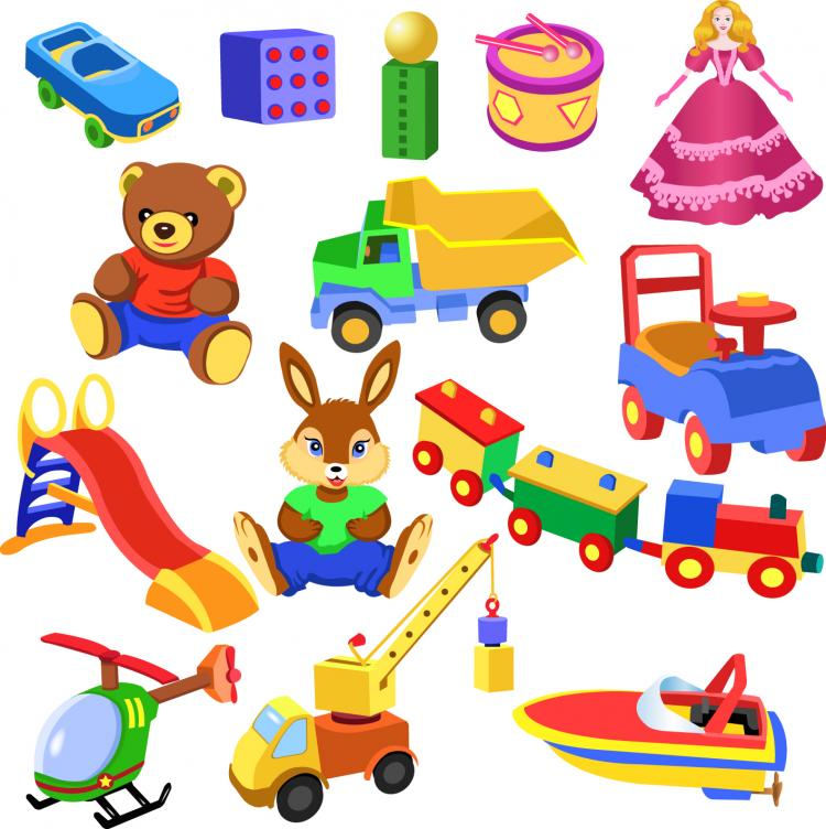 Cartoon Baby Toys : Cartoon toy vector free