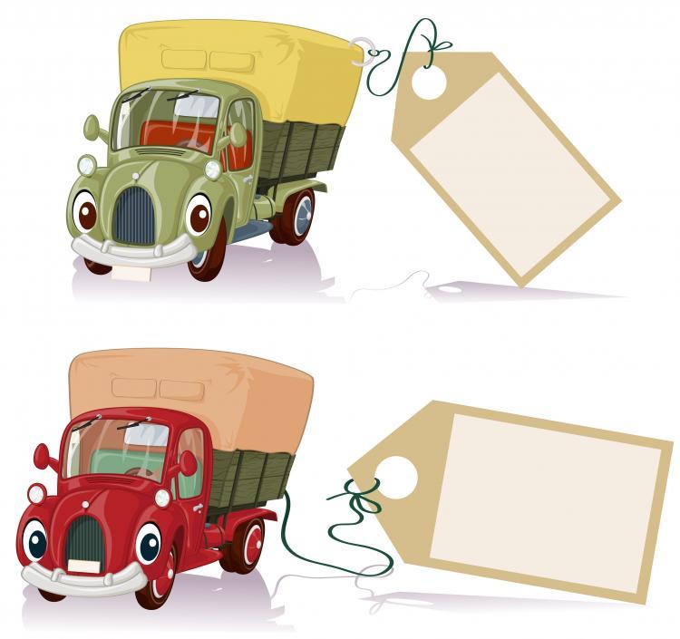 free vector Cartoon truck 02 vector