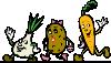 free vector Cartoon Veggies Running clip art