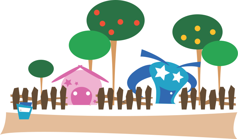free vector Cartoon village