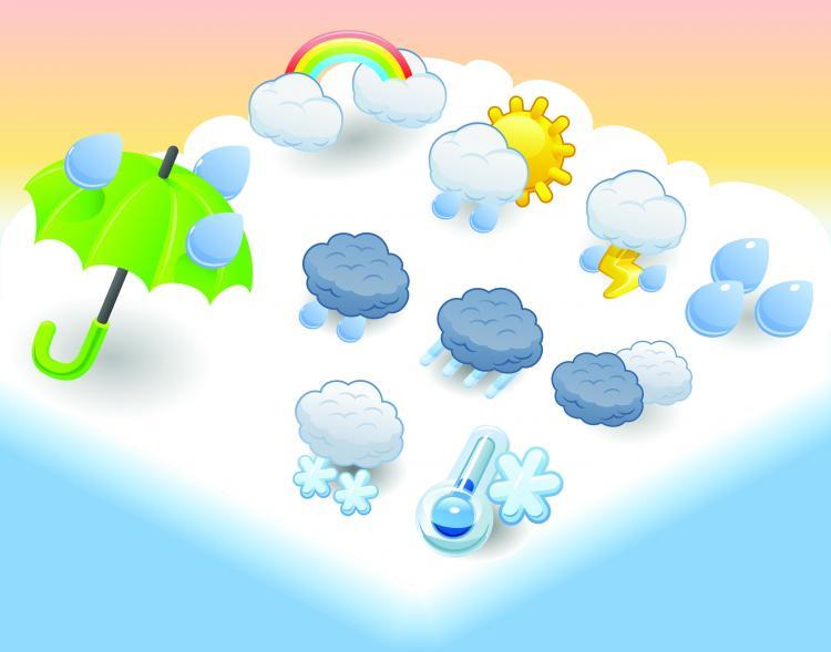 free vector Cartoon weather icon 01 vector