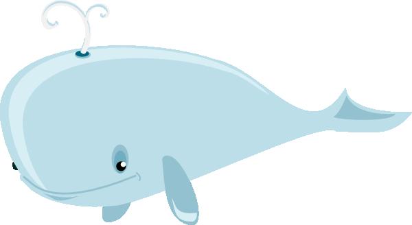 free vector Cartoon Whale clip art