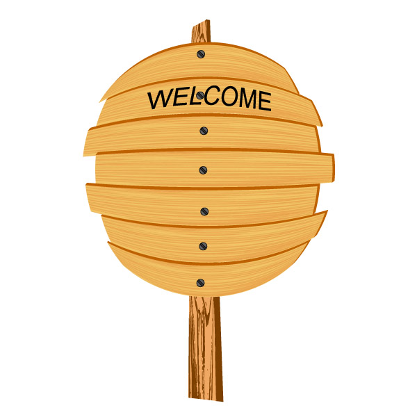 free vector Cartoon wooden signs 05 vector