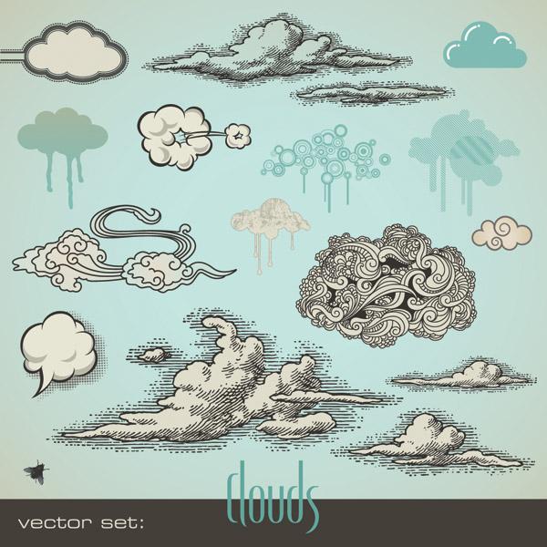 free vector Cartoonstyle vector 1 cloud