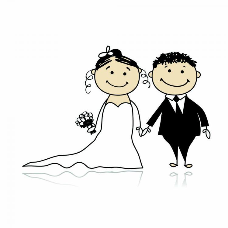 Cartoonstyle Wedding Elements 05 Vector Free