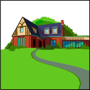 free vector Casa In Campagna clip art