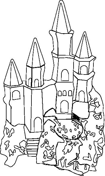 free vector Castle Outline clip art