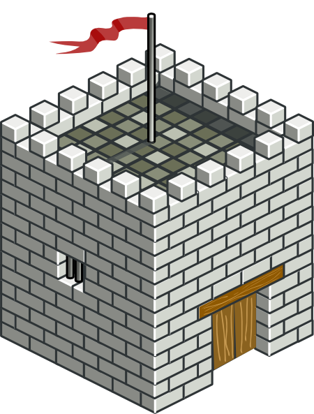free vector Castle Tower Isometric clip art