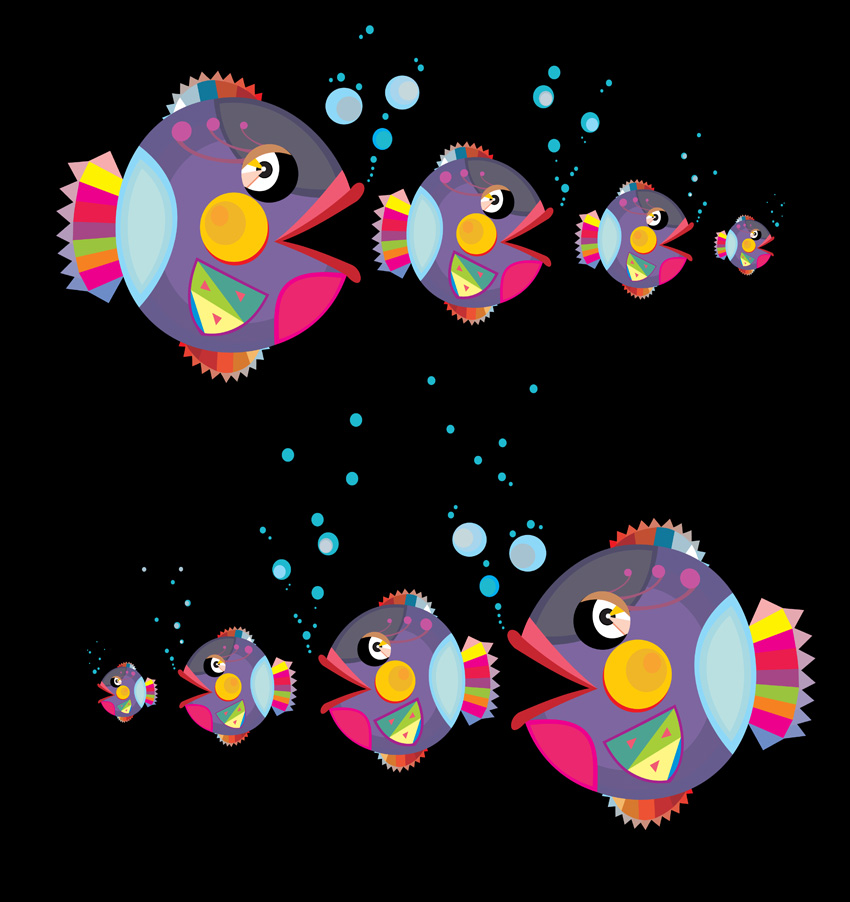 free vector Cat and fish vector