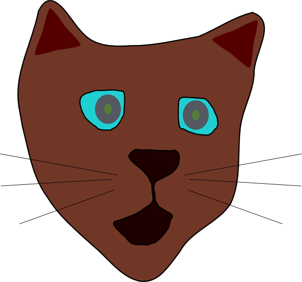 free vector Cat Face clip art