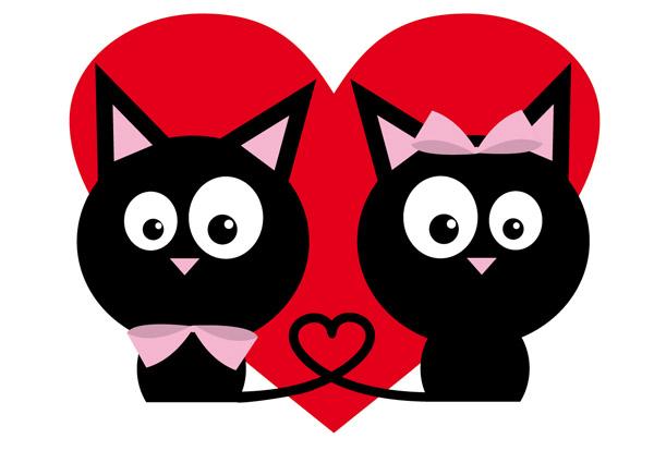 Cat Love Vector Free Vector 4Vector